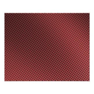 Red Carbon Fiber Patterned Art Photo