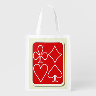 Red Card Suit Reusable Grocery Bag