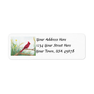 Red Cardinal - Address Labels