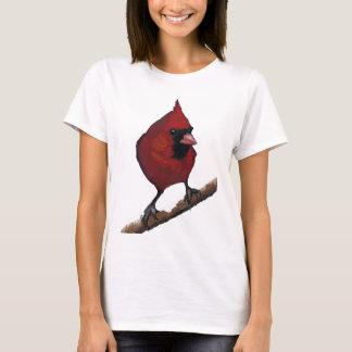 Red Cardinal: Bird: Oil Pastel Artwork T-Shirt
