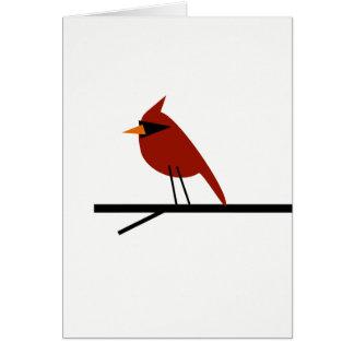 Red Cardinal Blank Customizable Card