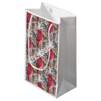 Red Cardinal Christmas Gift Bag