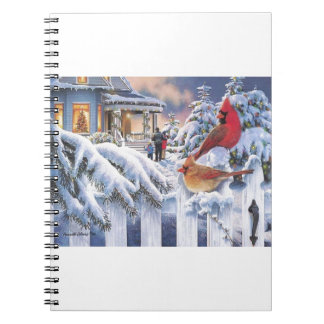 Red Cardinal Christmas Notebooks