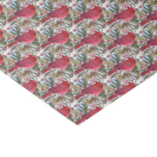 Red Cardinal Christmas Tissue Paper