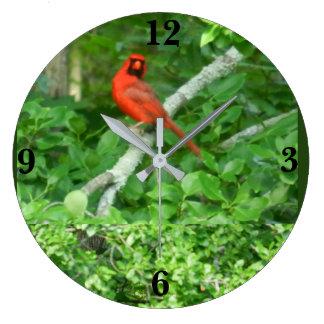 RED CARDINAL clock