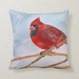 Red Cardinal Cushion