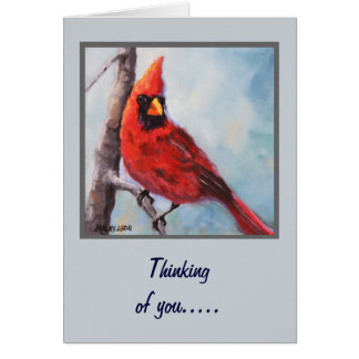 Red Cardinal Fine Art Greeting Card