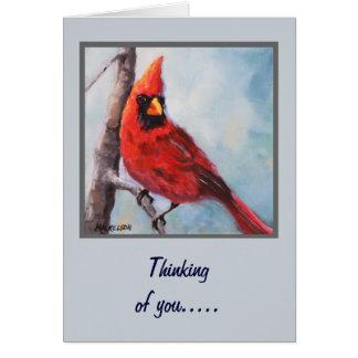 Red Cardinal Fine Art Greeting Card