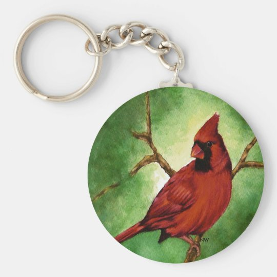 Red Cardinal Key Chain