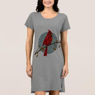 Red Cardinal Mosaic Dress
