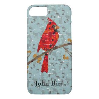 Red Cardinal Mosaic iPhone 7 Case
