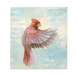 Red Cardinal Notepad