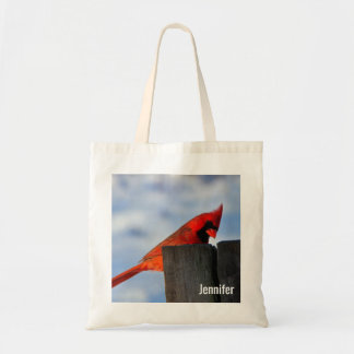 Red Cardinal on Wooden Stump Personalized