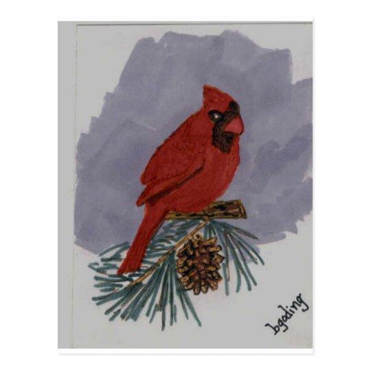 Red Cardinal Postcard