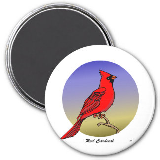 Red Cardinal rev.2.0 Magnets and Flair