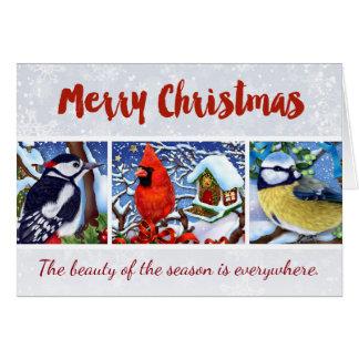 Red Cardinal Winter Birds Christmas Card