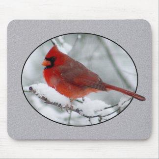 Red Cardinal Winter Snow Mousepad