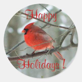 Red Cardinal (Winter) Sticker