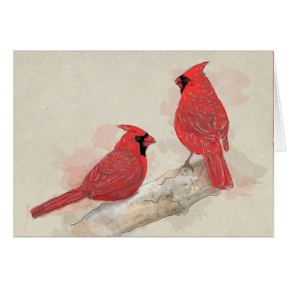 Red Cardinals Card