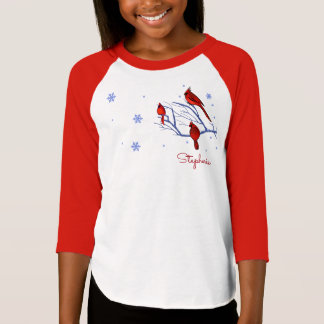Red Cardinals. Christmas Gift Kids T-Shirts