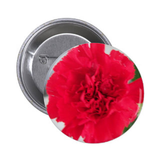 Red Carnation 6 Cm Round Badge