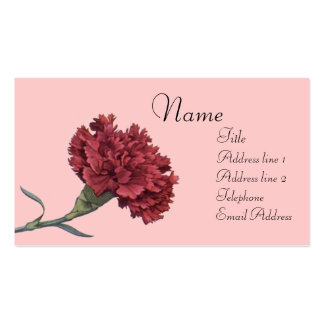 Red Carnation Business Card