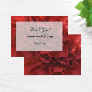 Red Carnation Floral Thank You Wedding Favor Tags
