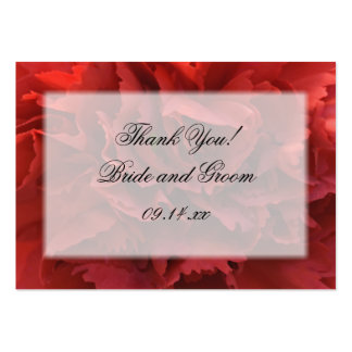 Red Carnation Floral Thank You Wedding Favor Tags Pack Of Chubby Business Cards