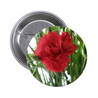 Red Carnation Flower Button