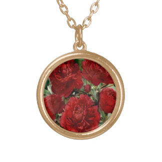 Red Carnation Flowers Necklace