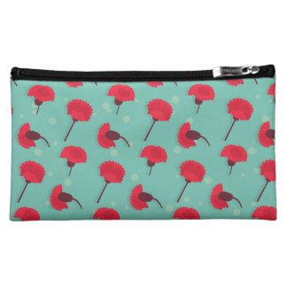 Red Carnation Medium Cosmetic Bag