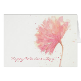 Red Carnation Valentine Card