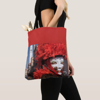 Red carnival mask in Venice, Italy Tote Bag