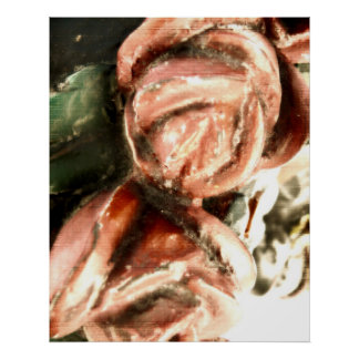 Red Carousel Roses Poster