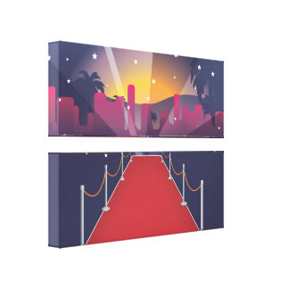 Red Carpet Celebrity Gallery Wrapped Canvas