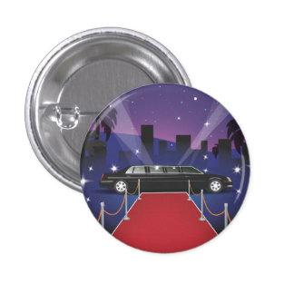 Red Carpet Celebrity Limo 3 Cm Round Badge