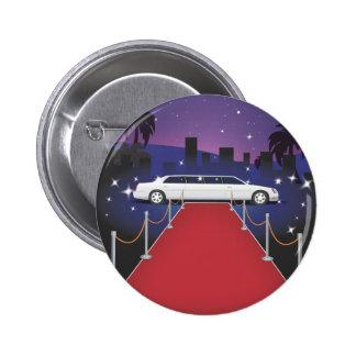 Red Carpet Celebrity Limo 6 Cm Round Badge