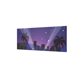 Red Carpet Celebrity Limo Gallery Wrap Canvas