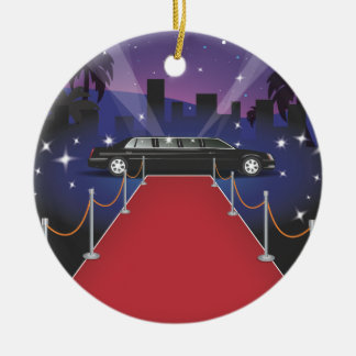 Red Carpet Celebrity Limo Christmas Ornament