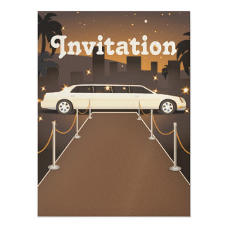 Red Carpet Celebrity Limo Classic Custom Invites