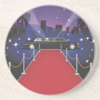 Red Carpet Celebrity Limo Drink Coaster