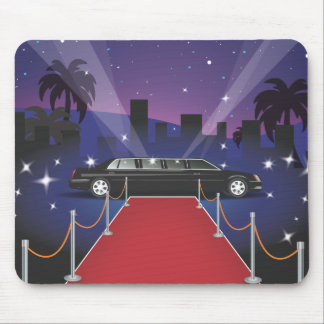 Red Carpet Celebrity Limo Mouse Pad