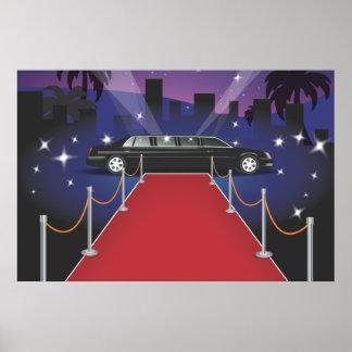 Red Carpet Celebrity Limo Poster