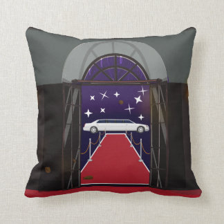 Red Carpet Celebrity Limo Throw Pillow