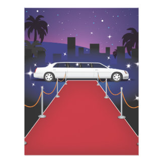 Red Carpet Celebrity Limousine 21.5 Cm X 28 Cm Flyer
