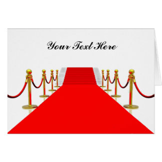 Red Carpet Customizable Card