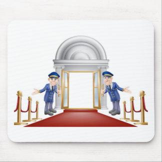 Red carpet entrance mouse mat