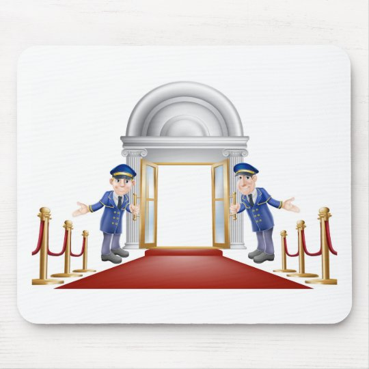 Red carpet entrance mouse pad