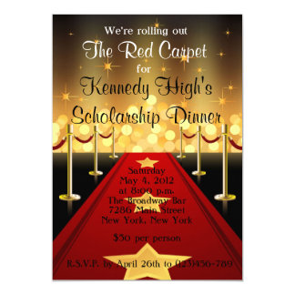 Red Carpet Hollywood Fundraiser Gala Invite