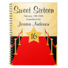 Red Carpet Hollywood Sweet 16 Guest Book